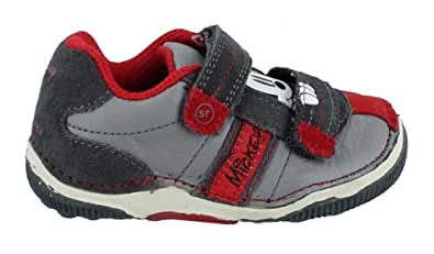 Boy's Stride Rite, Disney Baby SRT Mickey Mouse Sneakers GREY RED 4.5 M