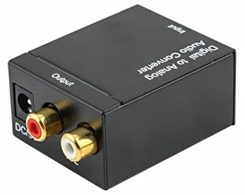 Wooshshop® Convertidor Digital Optical Coaxial Toslink to Analog Audio Converter RCA