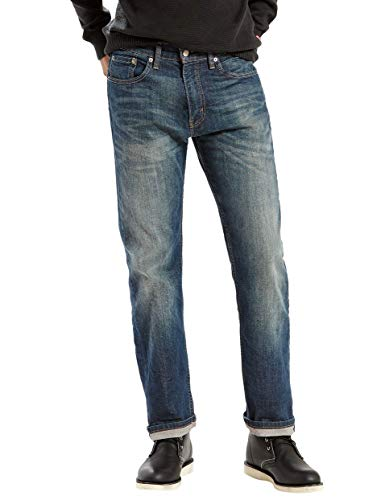 (Levi's Men's 505 Regular Fit Jean, Cash,)