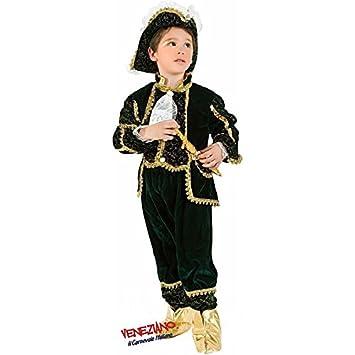 Marchesedi Venezia Costume Carnevale Velluto Verde Oro