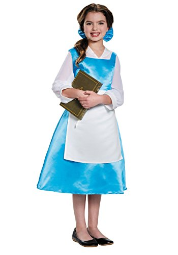Disney Movies Halloween Costumes (Belle Blue Dress Tween Disney Princess Beauty & The Beast Costume, X-Large/14-16)