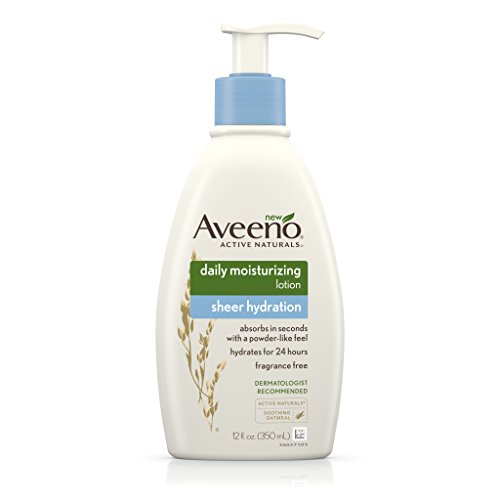 AVEENO Active Naturals Sheer Hydration Daily Moisturizing Lotion 12 oz (Pack of 2)