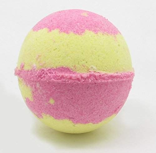 Raspberry Lemonade Bath Bomb | Bath Fizzy | Made with Avacado Oil, Clay and Other Natural Ingredients by Hickory Ridge Soaps | Large Bath Bomb | 5.5oz