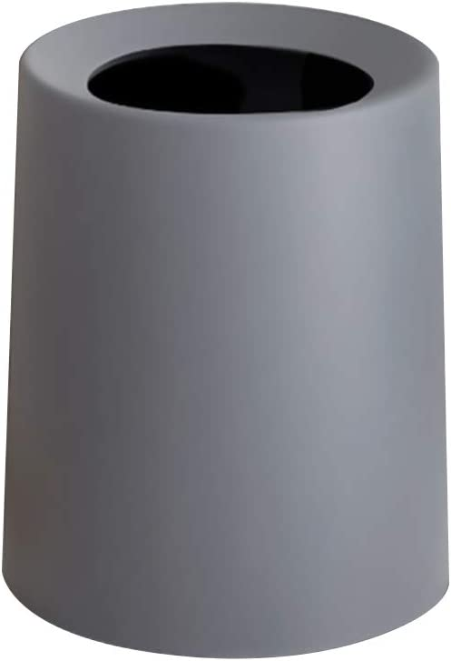 YUMUO Japanese Style Double-Deck Trash Can, Garbage Can Ash Bin Dust Bin Trash Container for Home Office Kitchen Bathroom -b 2.6gal