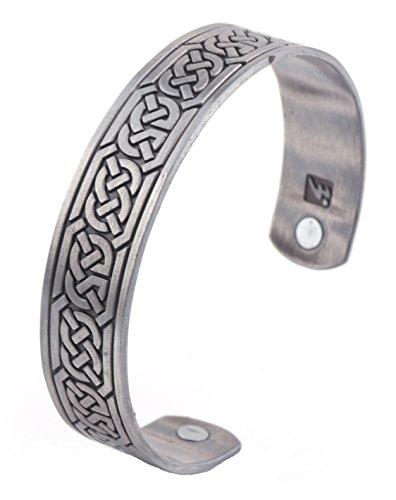 Celtic Knot Bracelet Irish Knot Infinity Viking Norse Stainless Steel Cuff Bangle Bracelet for Men (style 3)