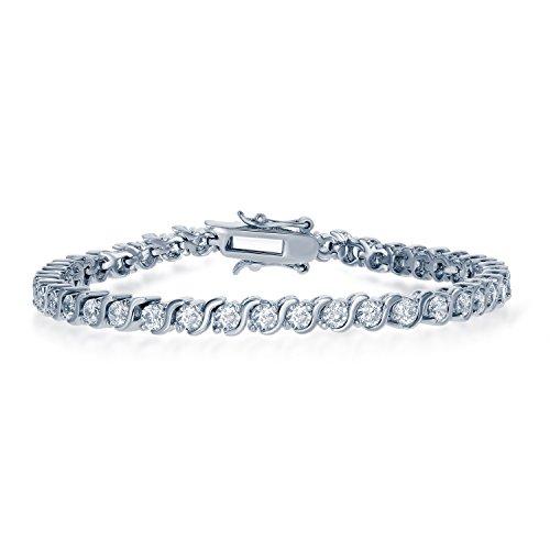 Womens Beautiful Round Tennis Bracelet