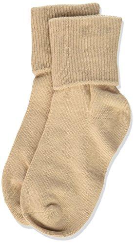 Jefferies Socks Little Girls' Seamless Turn Cuff Socks (Pack of 6), Stone, Toddler