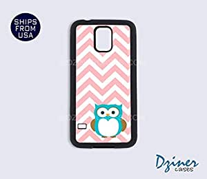Galaxy S4 Heavy Duty Tough Case Cover - Pink Chevron Owl