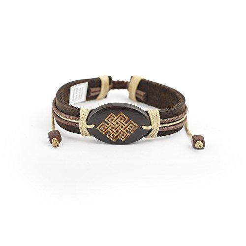 Eternal Knot (Adjustable Leatherette Bracelet Eternal Love Knot)