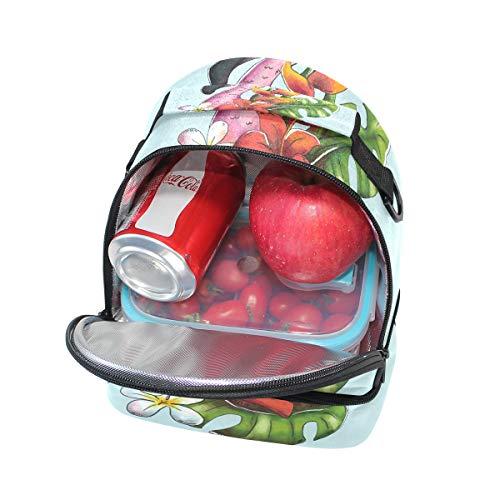 Toucan Cooler lunch Sac à avec avec isotherme le réglable à bandoulière imprimé pour Boîte floral l'école Tote Folpply Pincnic vq05188