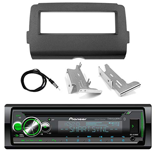 Pioneer Marine Bluetooth Radio USB AUX CD MP3 WMA Audio Receiver Bundle Combo with Installation Dash Kit for 2014 and Up Harley Motorcycle, Enrock 22