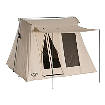 Springbar Classic Jack 100   10x10 Foot Canvas Tent   Watertight Cotton Canvas Car Camping and Glamping All Season Tent   6.5 Foot Interior Standing Height   Original 1961 Easy Set Up Design