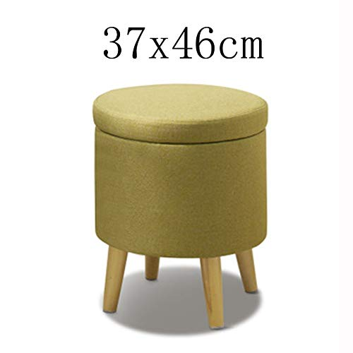 RDMZ Solid Wood Storage Stool Toy Storage Bench Change Shoe Stool Makeup Vanity stoolmultifunctional Sofa Pedal (Color : C, Size : 37x46cm)