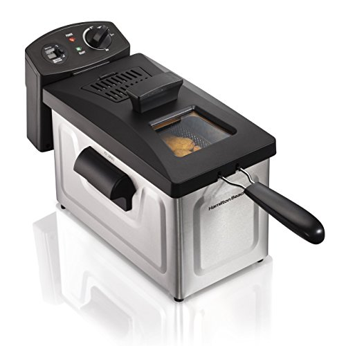 Hamilton Beach (35033) Deep Fryer, With Basket, 2.8 Liter Oil Capacity, Electric, Professional Grade (Renewed)