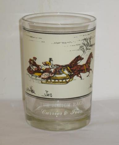 (Currier & Ives The Sleigh Race Arby's Collector Series Glass Tumbler - Courtesy of the Museum of the City of New York)