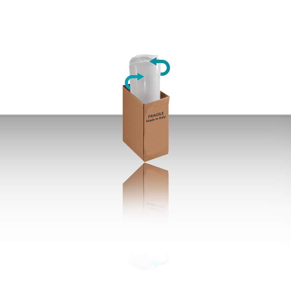 Alto 5 cm con Tessuto antimicrobico sfoderabile 4 Lati con Filo in Argento GEEMMA s.r.l Star Latex Singolo 80x190 Topper Lattice sopramaterasso in 100/% Lattice