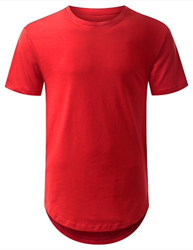 URBANCREWS Hipster Hemline Crewneck T shirt