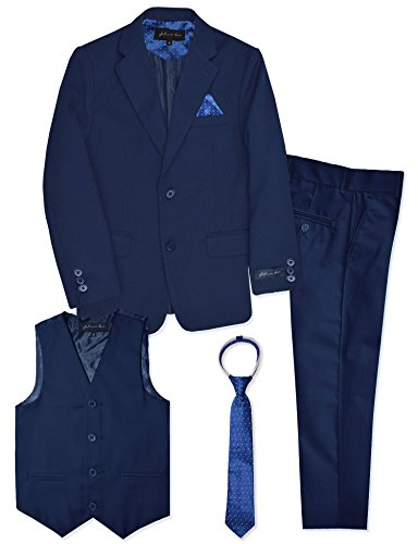 Boys Formal Dresswear Suit Set #JL48 (12, Royal Blue) -