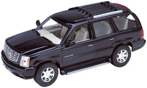 Black 2002 Cadillac Escalade SUV 1/24 Scale Diecast Model with Window - Model Black Cadillac