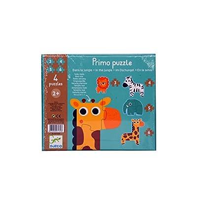 Djeco Dj07135 Primo Puzzle Gli Animali Della Giungla