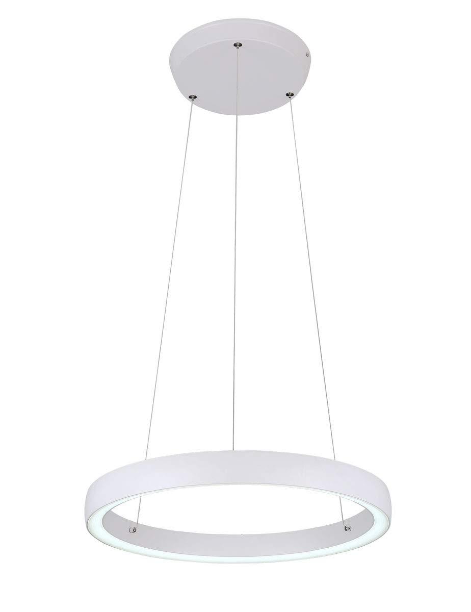 LED Ø45cm Pendelleuchte Phineas mattweiß Ø45cm LED 36W Kristalldiffusor UpDown 10743 597ccb