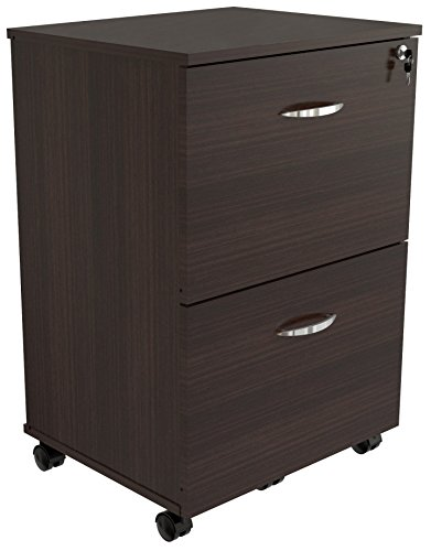 Inval America AR-2X2R Uffici Commercial Collection 2 Drawer Mobile File Cabinet