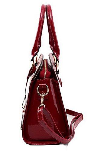 Dacron à bandoulière Tourisme Femme Sacs La Zippers quotidienne AllhqFashion Rouge vie 6YwqPR