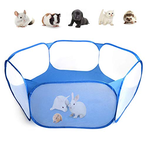 Casifor Guinea Pig Cage Rabbit Cage Indoor with Waterproof Mat Playpen Perfect Size for Small Animal Play Pen Easy to Clean Yard Fence Portable Tent for Hamsters, Chinchillas, Hedgehog, Puppy, Cats (Portable Reptile Cage)
