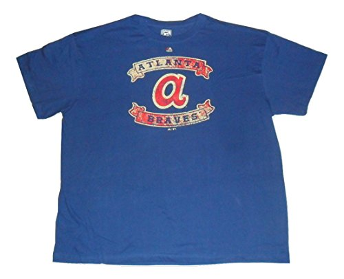 Majestic Atlanta Braves Cooperstown Collection Royal T-Shirt Big Tall (XXXX-Large)