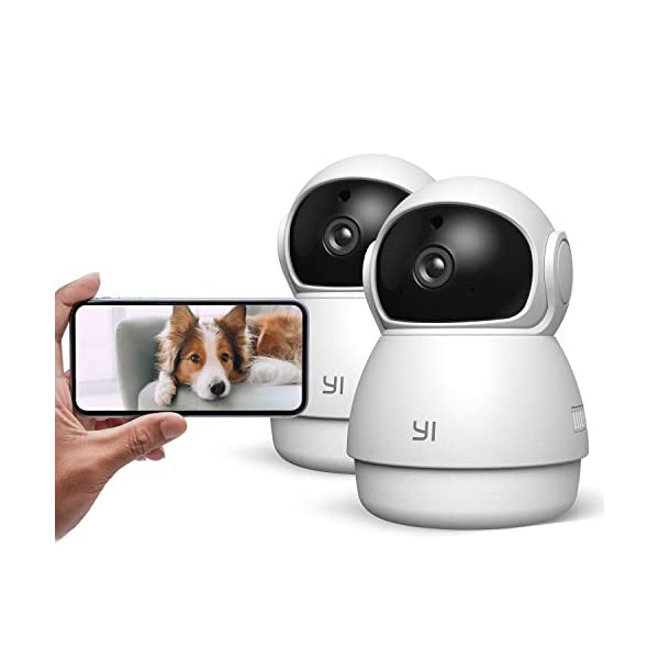 YI Pet Camera Dog Camera with Phone App Pet Dog Cat Puppy Cam Monitor Two Way Audio and Video, Pan/Tilt/Zoom, WiFi…