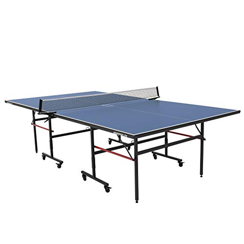 STIGA T8579W Advantage Lite Recreational Indoor Table Tennis Table 95% Preassembled Out of Box with Easy Attach and Remove Net, Blue, One Size