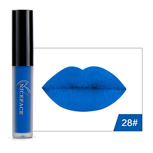 Hot Sales! DEESEE(TM) New 9 Colors Halloween Style Lip Lingerie Matte Liquid Lipstick Waterproof Lip Gloss Makeup (Pink Halloween Collection 2017)