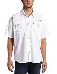 Columbia Men\'s Bahama II Short Sleeve Shirt, White, Large