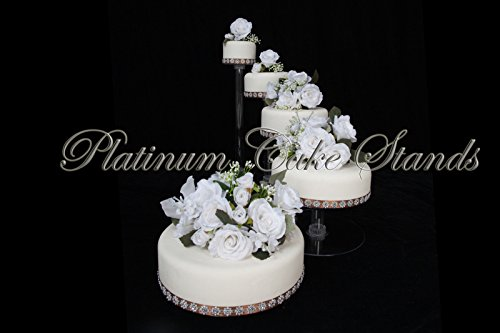 5 Tier Cascade Wedding Cake Stand (STYLE R500) - Wedding Cake Stand Set