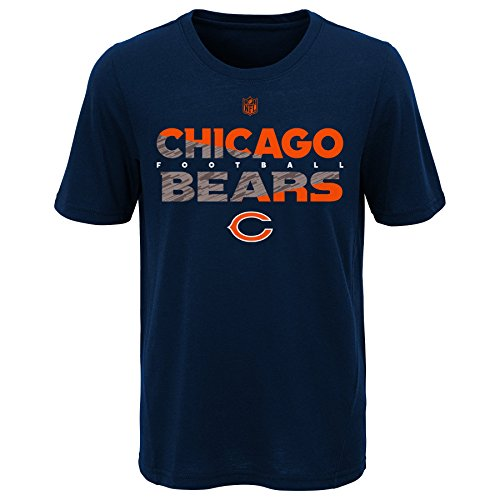 Outerstuff NFL NFL Chicago Bears Youth Boys Flux Short Sleeve Ultra Tee Dark Navy, Youth X-Large(18)
