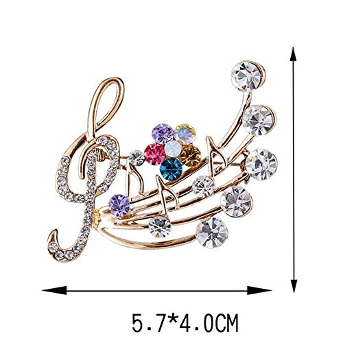(Note Dresses Blossom Crystal Musical Note Blossom Brooches Brooch Fashion )