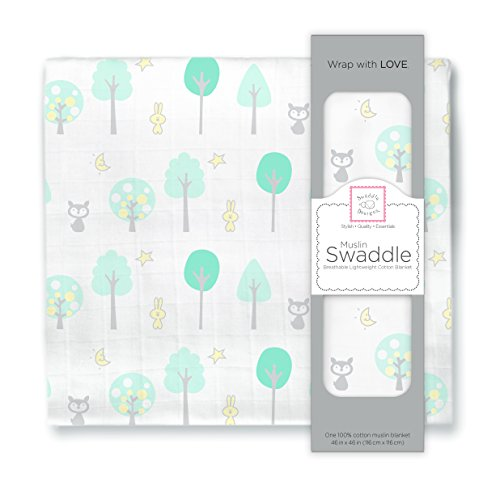 SwaddleDesigns Cotton Swaddle Blanket Woodland product image
