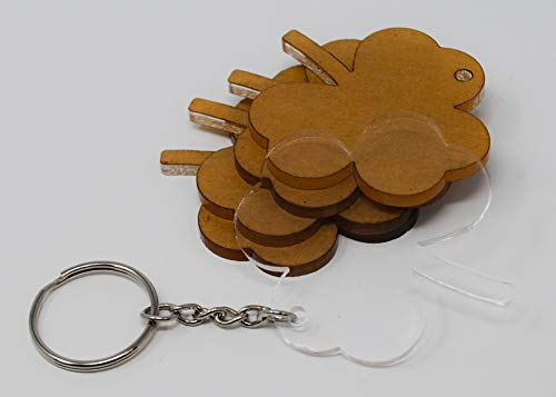 Chain Irish Sham - Premium Acrylic Keychain Blanks and Hardware - Shamrock - by My Local Maker - Made in USA (Qty. 10)
