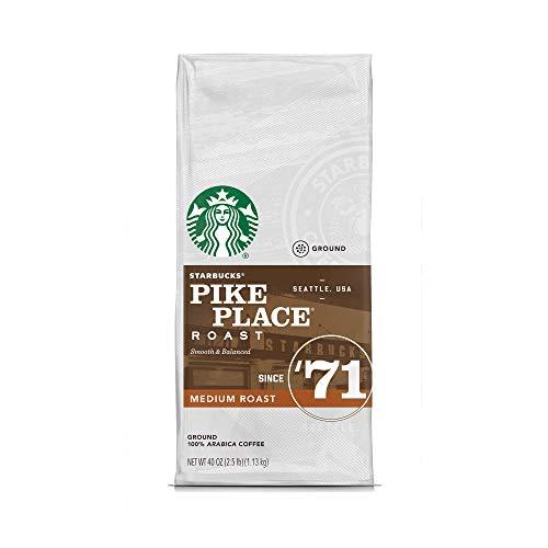 Starbucks Pike Place Medium Roast Ground Coffee, 40 Ounce, 2.5 pounds ()