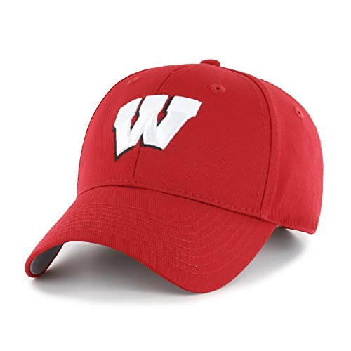 OTS NCAA Wisconsin Badgers All-Star MVP Adjustable Hat, Red, One (Wisconsin Badgers Soft Football)