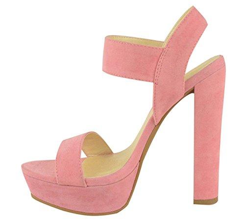 forme Chic Partie Bout De Daim Dames Découpé Rose La Chaussures Plate Sandales Boucle Or Été En Haut Bébé Taille Femmes Ouvert Talon xxqt87p1