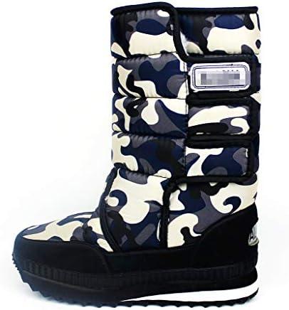 レディース冬の寒い天気の靴のためのナイロン暖かいアウトドアシューズクラシック防水男性用スノーブーツ快適なフェイクファーの裏地 (色 : 青, サイズ : 27 CM)