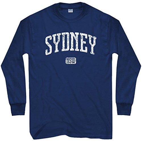 Smash Transit Men's Sydney Australia Long Sleeve T-Shirt - Navy, Large