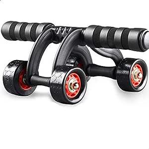 أربع عجلات البطن عجلة آب البكرات لتمارين المنزل معدات الصالة الرياضية الخصر التمرين اللياقة البدنية اسطوانة