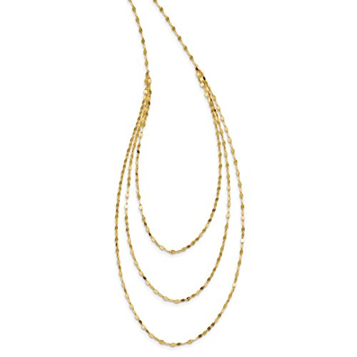 14k Yellow Gold Chain Necklace Pendant Charm Fancy Fine Jewelry For Women Gift Set