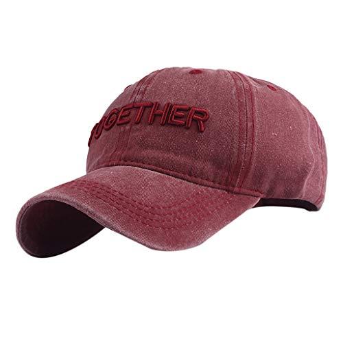 Weiliru Unisex Baseball Cap Vintage Cotton Washed Distressed Hats Twill Plain Dad-Hat