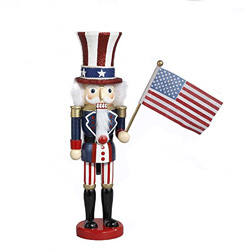 Kurt Adler 15-Inch Wooden Uncle Sam Nutcracker
