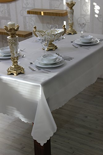 "Turkish Disposable,Tablecloth For Weddings Hotels And Restaurants ,Table Linen,Casual And Regular Use For Dinners,Parties, Christmas and Thanksgiving Dinners,7 Sizes (Ecru, 54""x108"")"