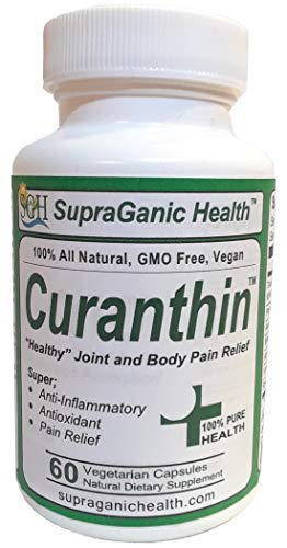 Curanthin – Anti-Inflammatory, Antioxidant – Body, Joint, Arthritis, Fibromyalgia Pain Relief – Turmeric Curcumin with Piperine, Astaxanthin, White Willow Bark, Alpha Lipoic Acid, Non-GMO For Sale