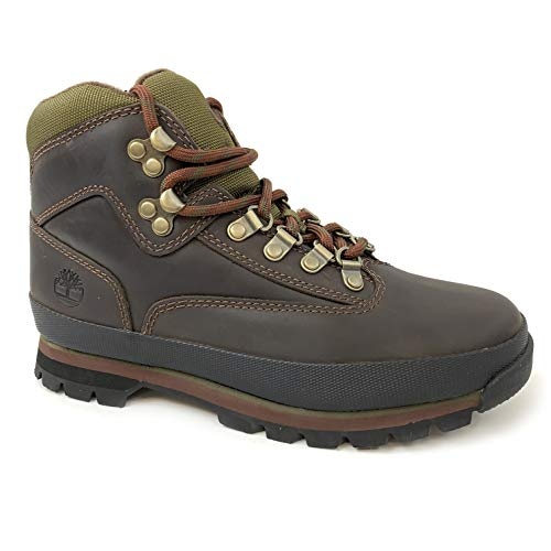 Timberland Women's Euro Hiker Brown Leather Boots (9)